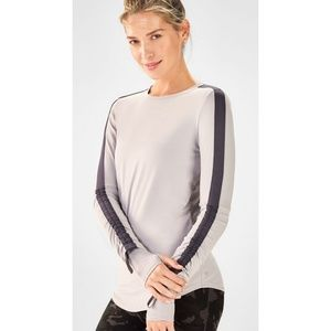 Fabletics Tops - Fabletics Gray Cashel Adjustable Long Sleeve Top M